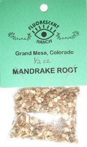 "Mandrake Root: Loose Resin Incense (1/2oz bag) by ""Fluorescent Ranch"""